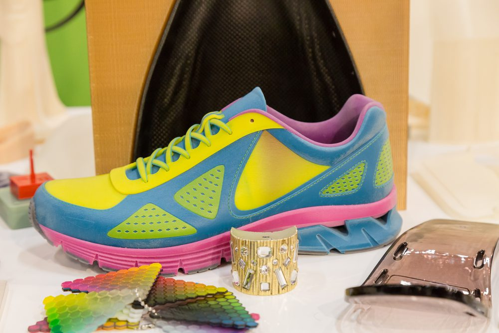 3D-printed shoe and footwear manufacturing