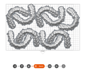LuxCreo's LuxAlign design direct print clear aligners batched in LuxFlow slicing software.