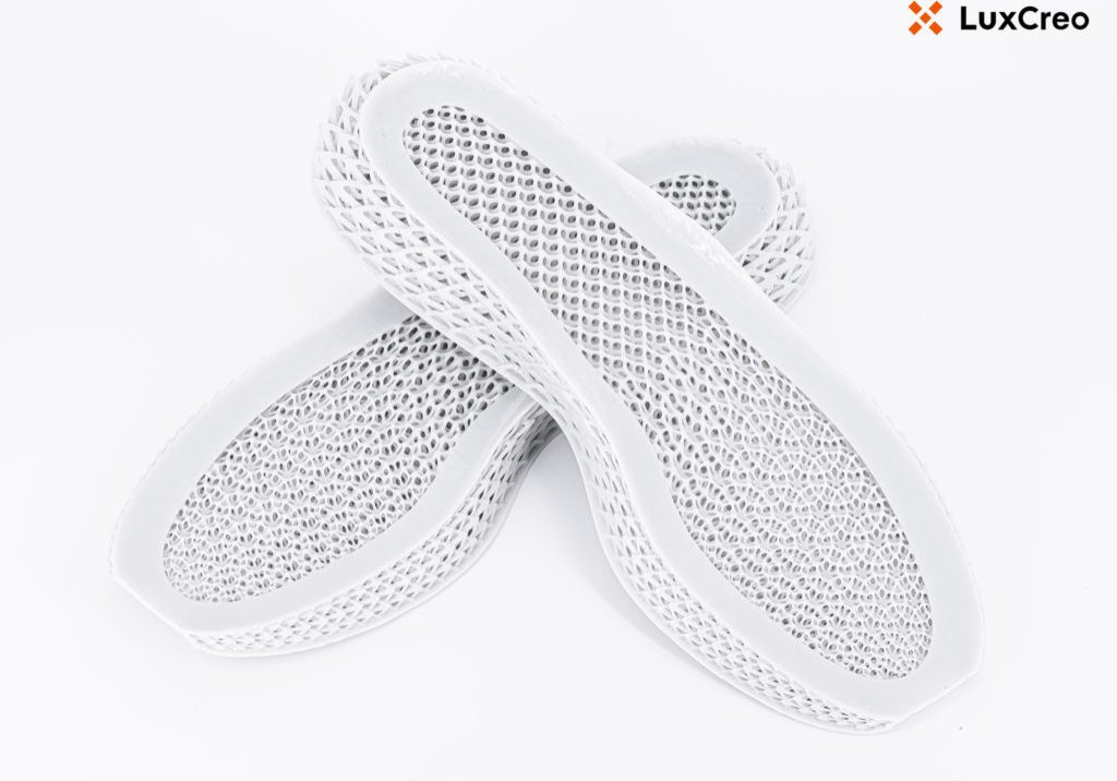 A 3D-printed midsole