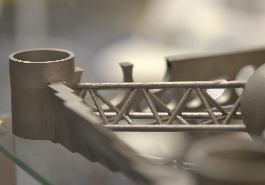 Object,Printed,On,Metal,3d,Printer.,A,Model,Created,In